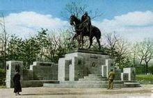 原长春公园内的儿玉骑马像