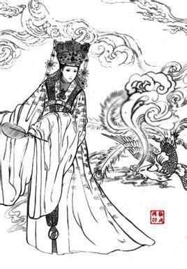 古装皇后手绘图片