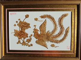 洛川苹果框架工艺品结构装配式树皮图纸图片