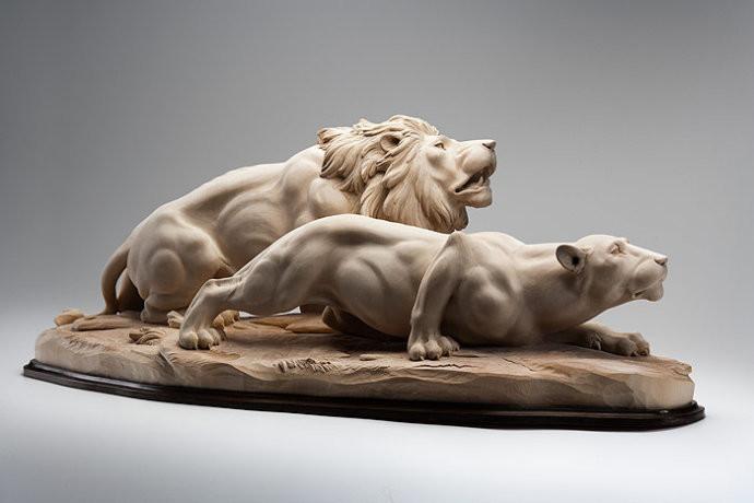 动物木雕--意大利天才木雕家朱赛佩作品