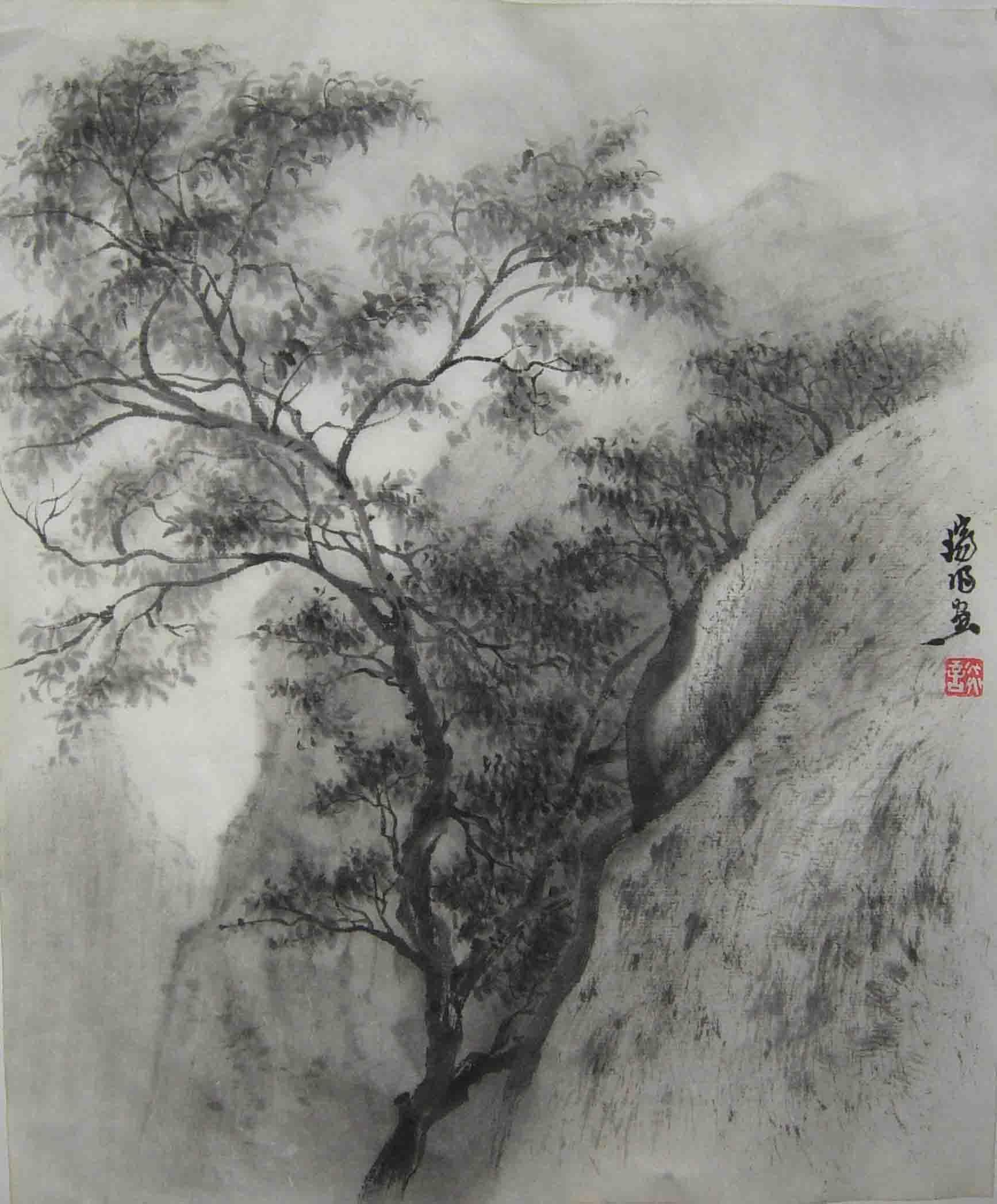 嵩山风景-艺术大师谈瑞明作品