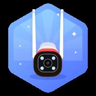 360智能摄像机1080P户外红色警戒版