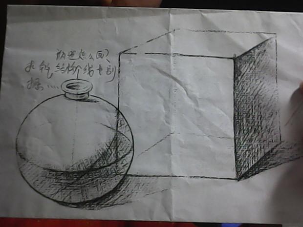 素描如图可以帮我说一下步骤吗,主要是圆和怎么找明暗
