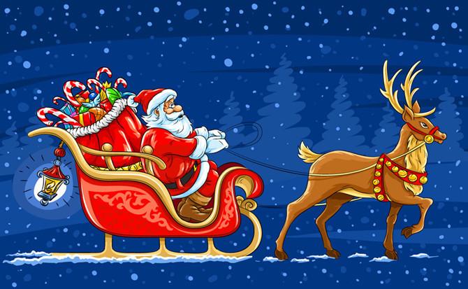 幻灯片-圣诞驯鹿