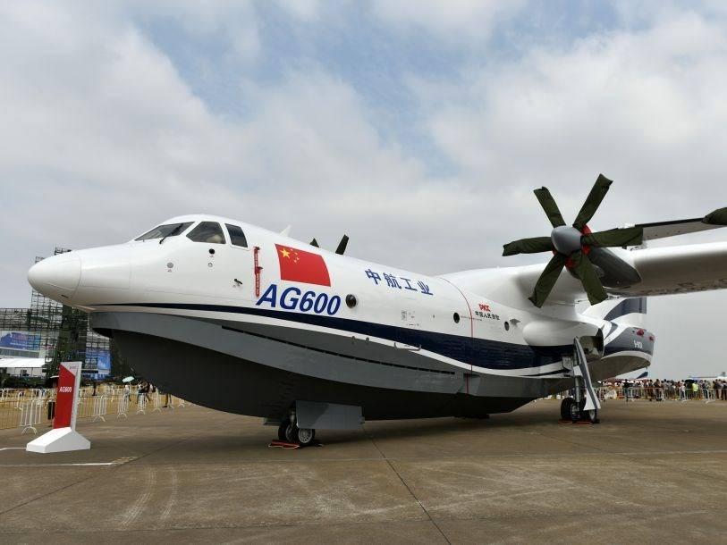 中国自主研制水陆两栖飞机ag600成功进行首次滑行