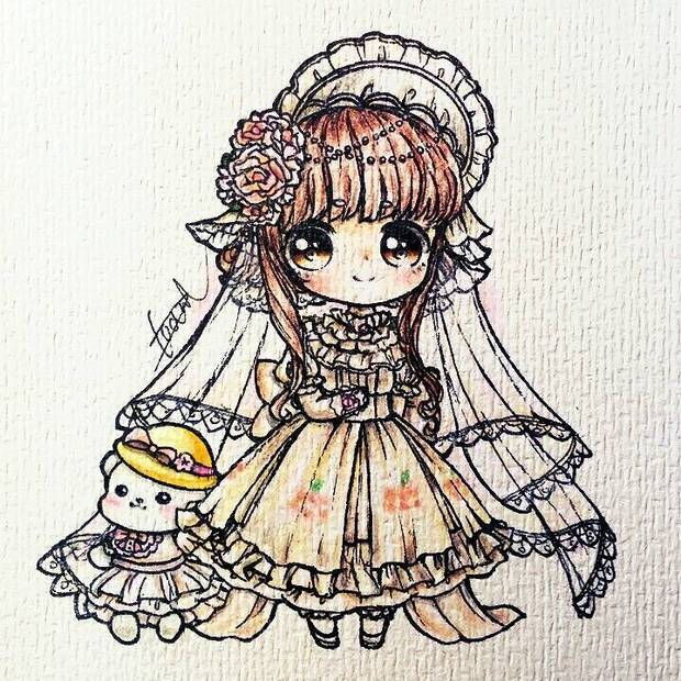 求下列s君手绘教程【其他婚纱类型也可以】