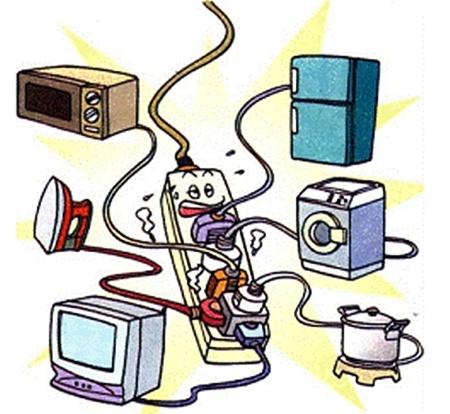电冰箱,洗衣机,电熨斗,吹风机,电风扇等家用电器越来越多地进入了家庭