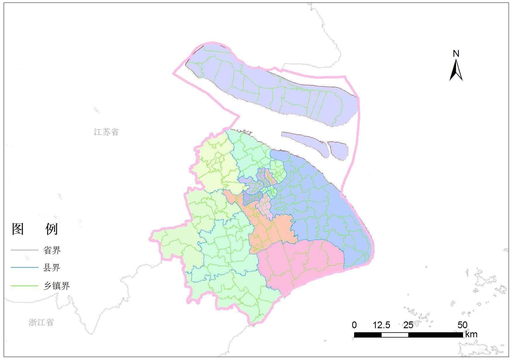 上海市乡镇行政区划数据