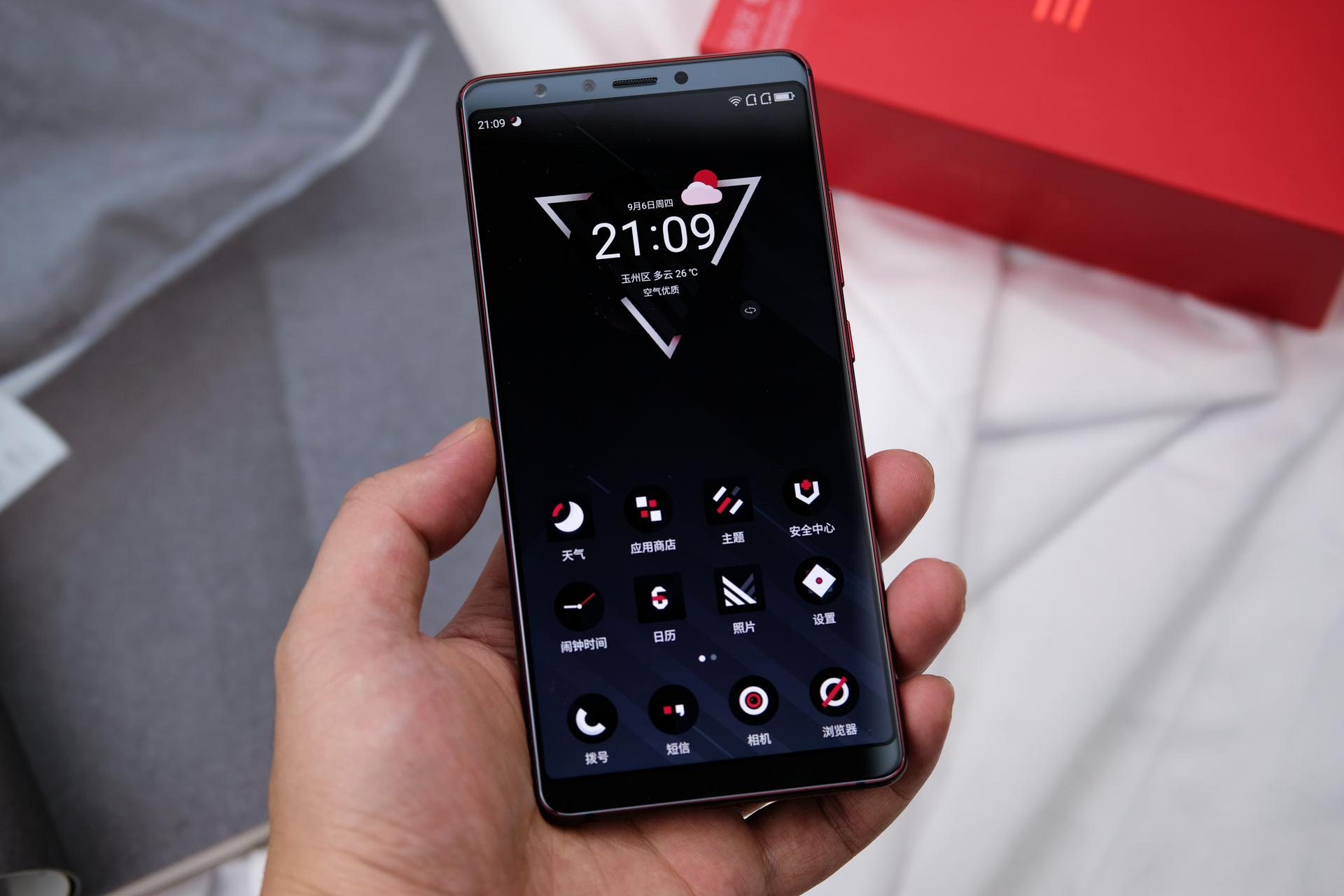 最新手机�yn�-a:+�_红与黑的潮流,做自己的态度:360手机 n7 pro 颜值有态度的开箱