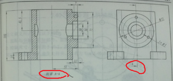 AUTOCAD等图纸中A向B向图片?_360问楼的六意思图纸层图片