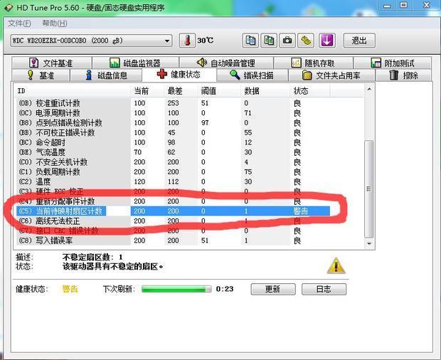 请问电脑硬盘smart指标数据异常是怎样回事?并重装不了系统