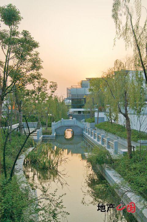 现代庭院水系景观手绘