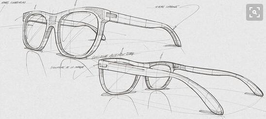 求教,关于眼镜产品透视图的绘画方式,如何运用基本几何形体进行简化