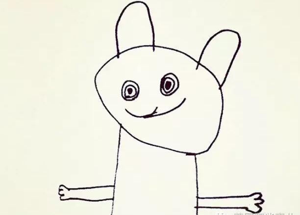 老爹把6岁儿子的简笔画P成现实版