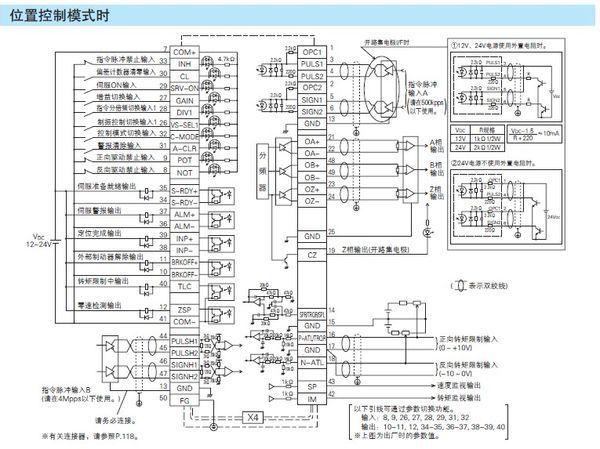 松下伺服电机驱动器编码器输出与plc如何接线?