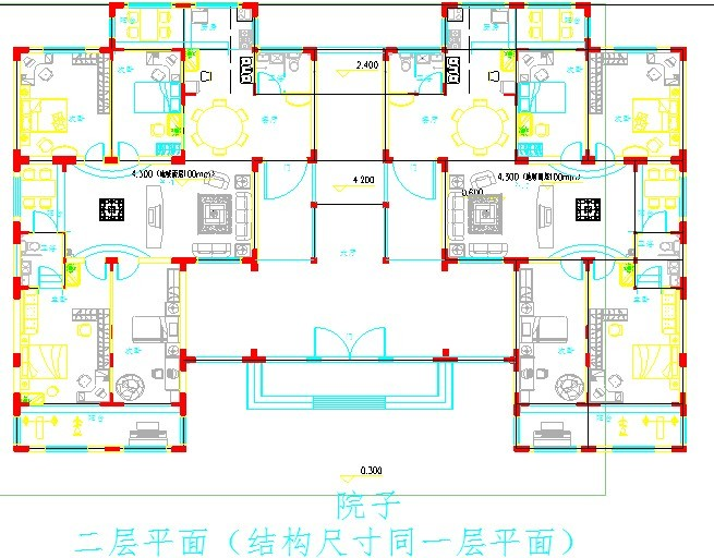 住宅结构平面设计图