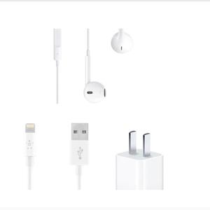 苹果【配件套装】全新  白色 耳机 数据线 充电头Lightning接口耳机/数据线+充电头