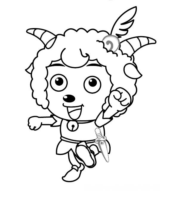 喜羊羊的简笔画 - 爱问网