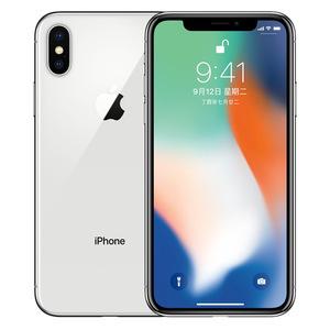 苹果【iPhone X】移动联通 4G/3G/2G 银色 64G 港澳台 9成新 双网通64G真机实拍