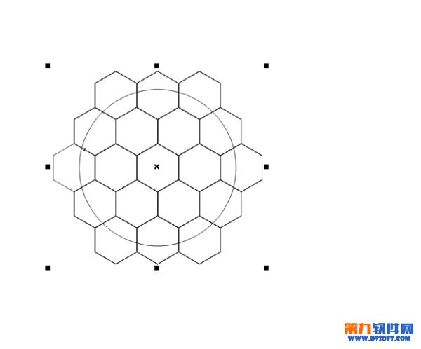 利用coreldraw简单绘制足球