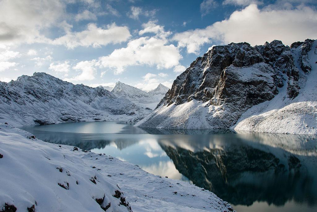 世界冬天油画风景图片