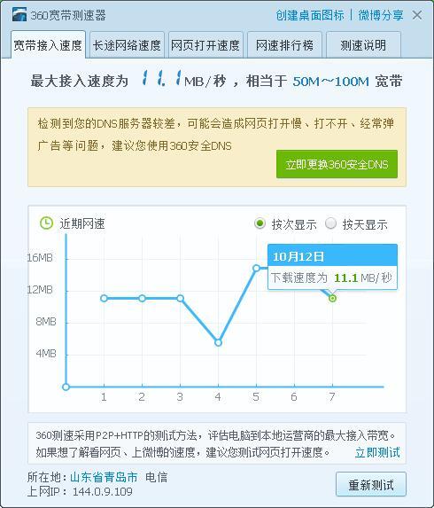 中国电信的网络测速是不是假的