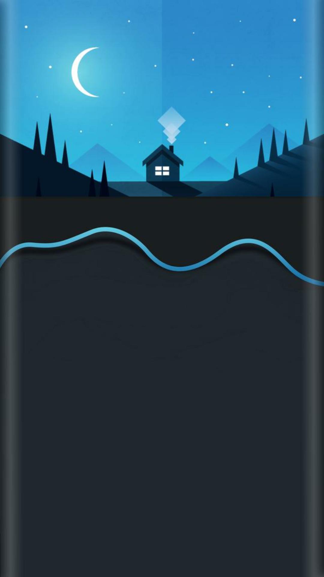 分享安卓7.0曲面屏高清无水印壁纸